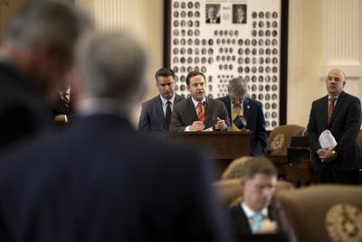 State Rep. Dustin Burrows, R-Lubbock, speaks on House Joint Resolution 3.