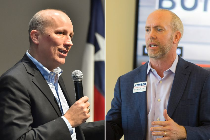 Chip Roy (left) and Joseph Kopser are the Republican and Democratic nominees for U.S. Congressional District 21, currently held by outgoing U.S. Rep. Lamar Smith, R-San Antonio.