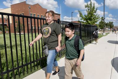 Maria Blanco is considering sending her son Sebastian to a charter school next year, instead of keeping him in San Antonio ISD.