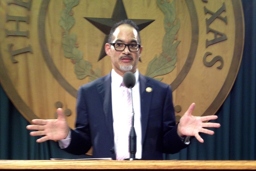 State Rep. Garnet Coleman, D-Houston speaks at a press conference on Feb. 19, 2015.
