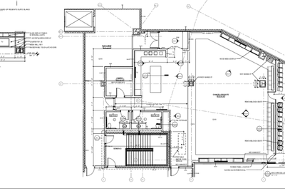 A blueprint for the Texas A&M chancellor's suite, provided through an open records request.