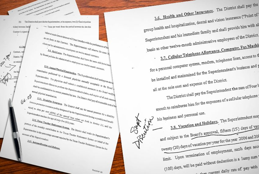 Annotated Documents: Texas Superintendent Contracts   The