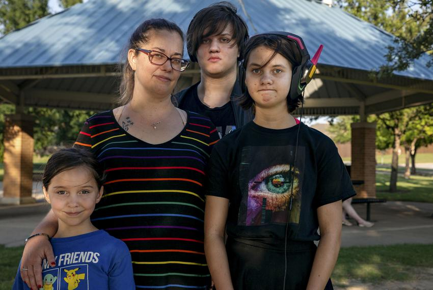 Aubrey Turner, mother of her 3 children Annabelle, Sam, and Halo, is one of many parents concerned about House Bill 1468 dyi…