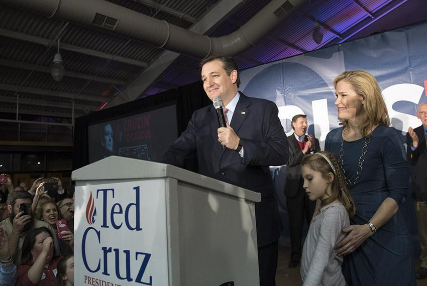 Ted Cruz celebrated his victory in the Iowa caucuses on Feb. 1, 2016.