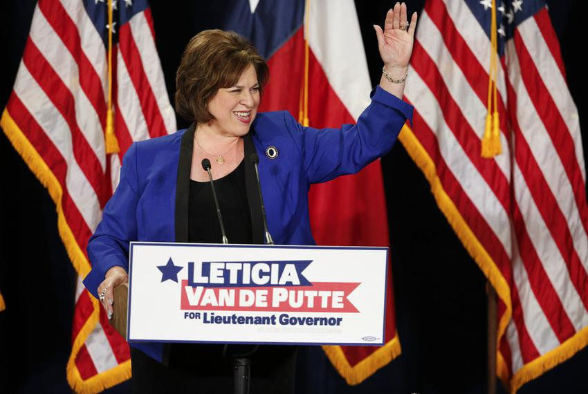 Sen. Leticia van de Putte, D-San Antonio announces her candidacy for Lt. Governor at San Antonio College on November 23, 201…