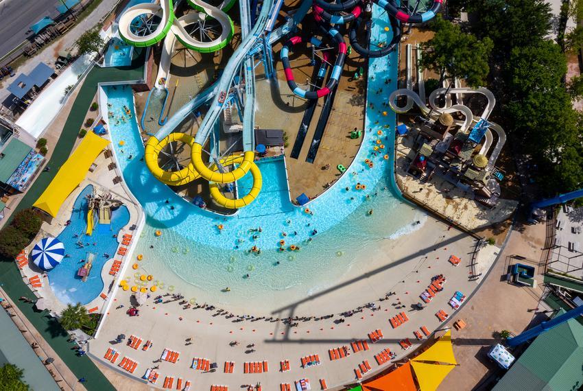 Schlitterbahn Water Park on July 4, 2020.