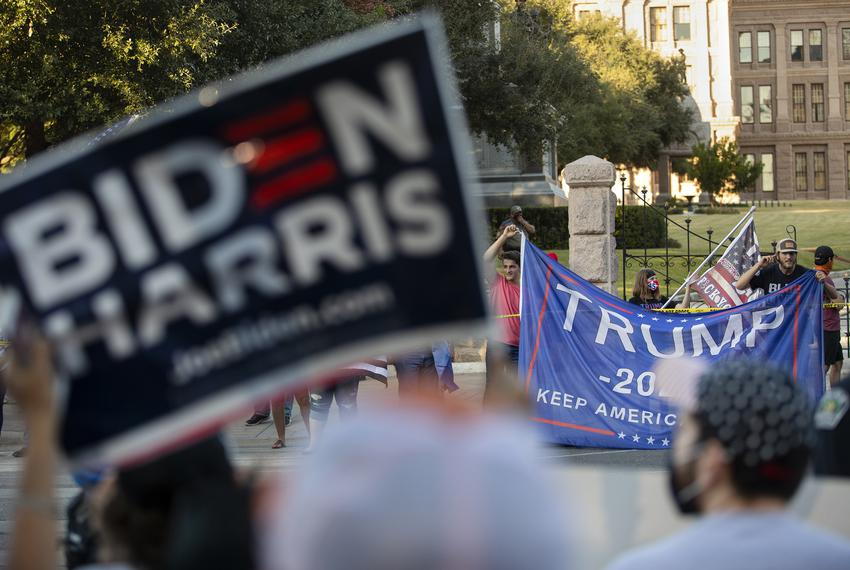 Supporters of President Trump gathered at the State Capitol in Austin to protest the victory of Presidential-elect Joe Biden…