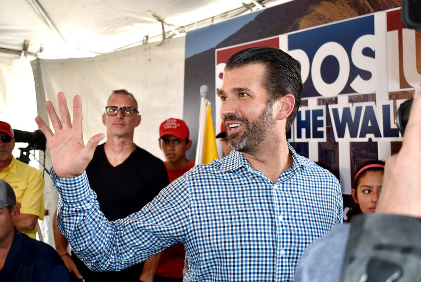 Donald Trump Jr. stopped by the Symposium by the Wall on Friday in Sunland Park, N.M.