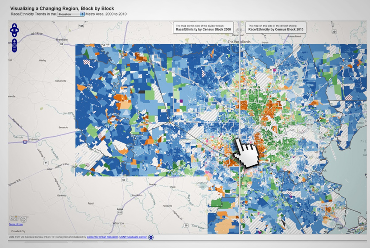 On The Records An Interactive Map Of Houston The Texas Tribune - Us-map-by-ethnicity