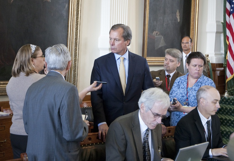 Lt. Gov. David Dewhurst speaks to reporters on June 3rd, 2011