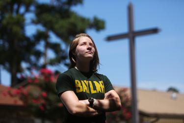 """Baylor University senior Anna Conner's campus LGBTQ organization, called Gamma Alpha Upsilon, or GAY in Greek letters, has been denied to be chartered by the university multiple times since 2011. Although Baylor removed a policy banning """"homosexual acts"""" in its sexual conduct policy in 2015, LGBTQ students say they are still marginalized."""