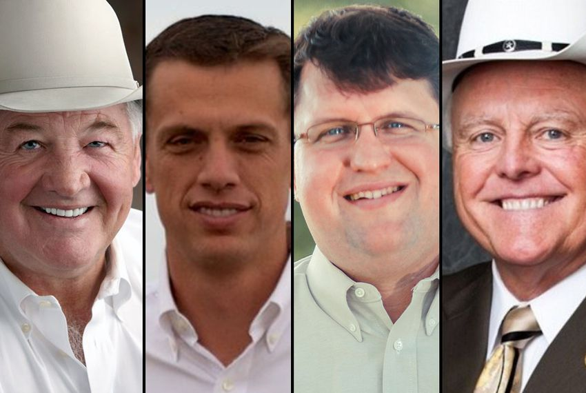Republican candidates for Agriculture Commission (l-r): Tommy Merritt, J Allen Carnes, Eric Opiela and Sid Miller.