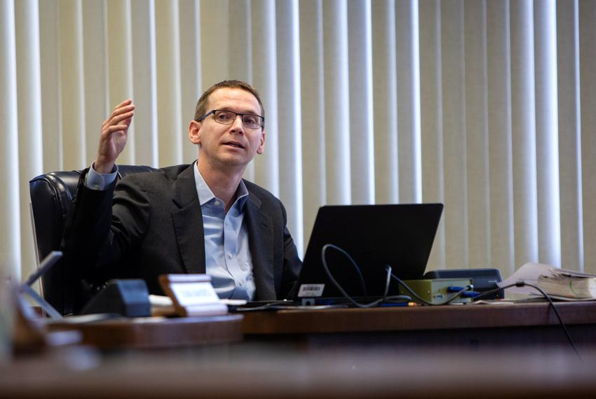 Texas Education Agency Commissioner Mike Morath speaks to the State Board of Education members during a meeting in Austin ...