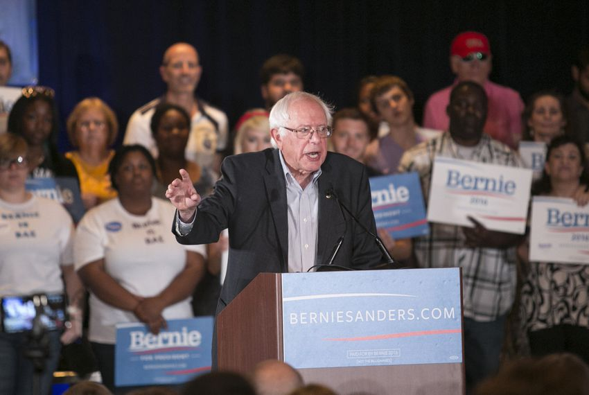 Bernie Sanders, 2016 Democratic candidate for president, speaks at a rally in Dallas on July 19. Democratic rival Hillary Clinton also visited Texas.