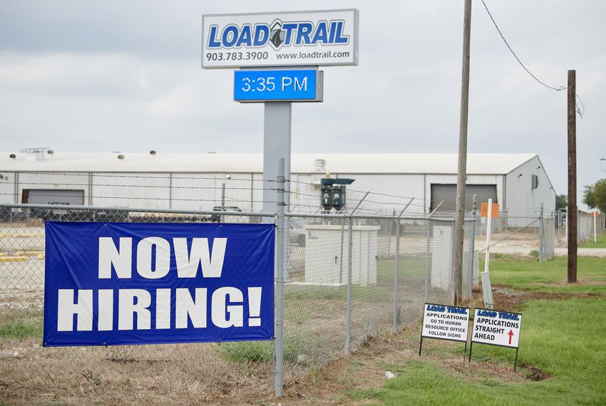 Immigration and Customs Enforcement agents raided the Load Trail factory in Sumner, Texas on Aug. 28 and arrested more than 150 undocumented workers. The next week, the company had hung a sign seeking new employees.