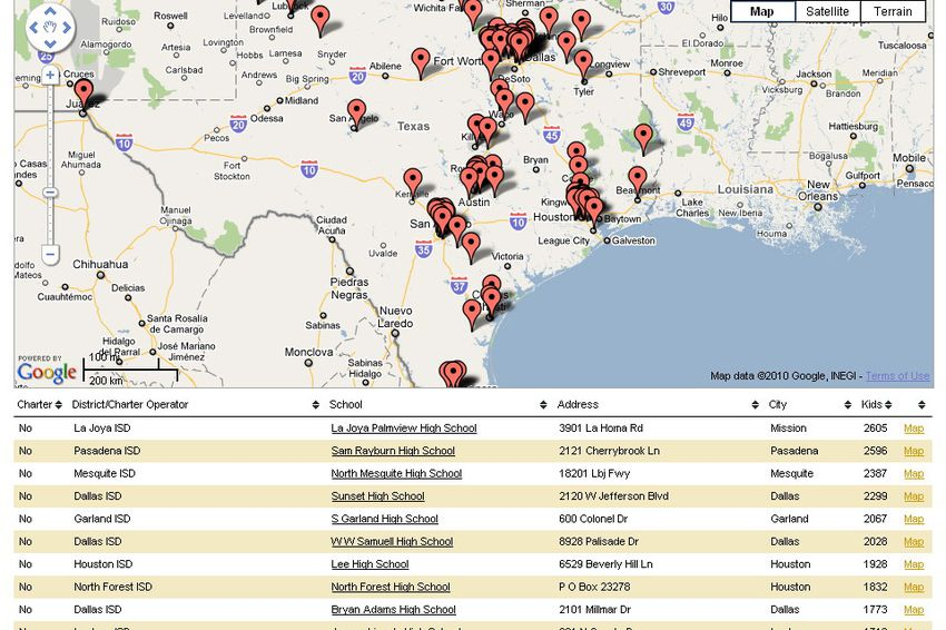 """Use our data app to find """"persistently lowest performing"""" schools in Texas."""