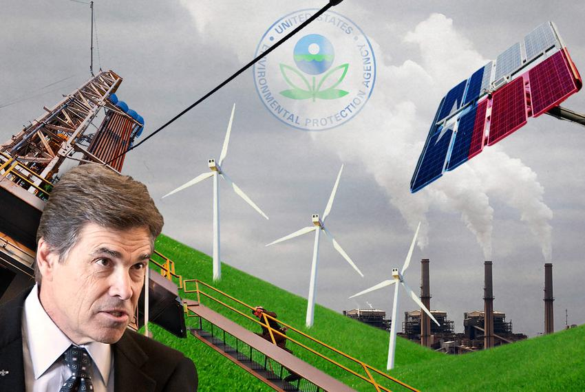 """Gov. Rick Perry has said that a new federal proposal to cut carbon emissions is """"the most direct assault yet on the energy p…"""