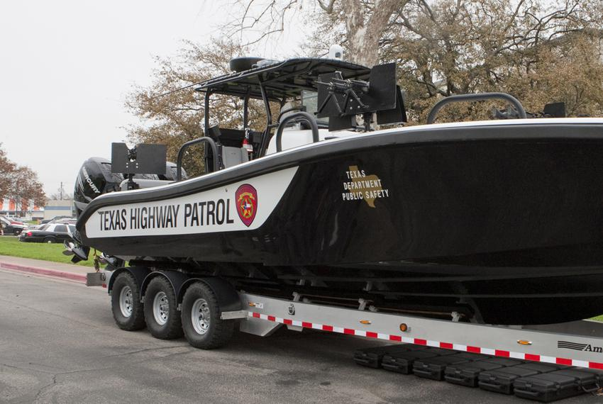 Newly commissioned patrol vessel, part of the Tactical Marine Unit, funded by federal Homeland Security grants, will help wi…