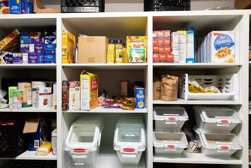 The hospitality coordinator and Perry Covington and his wife Karen keep the pantry stocked witha variety of foods thanks to …