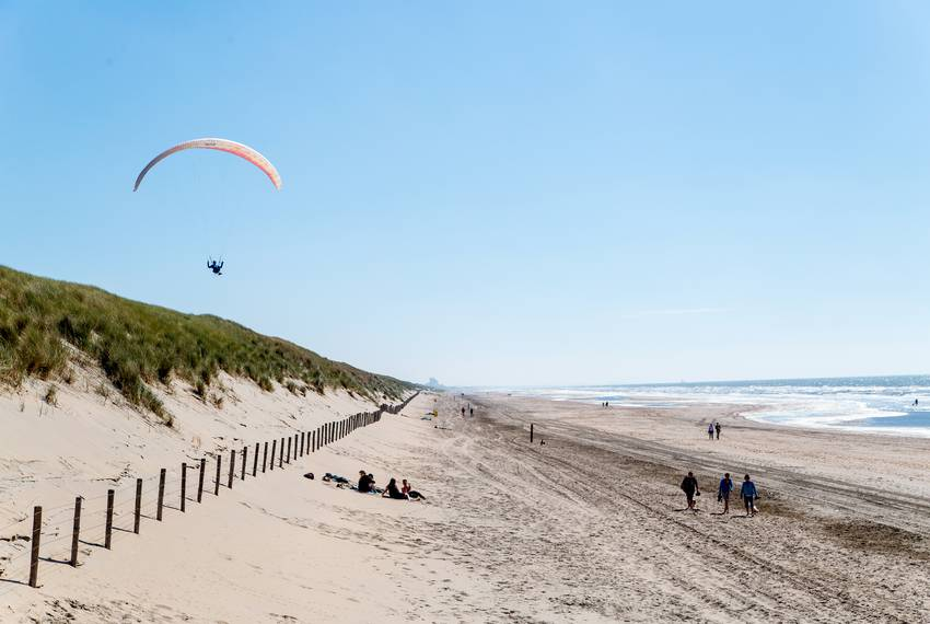The dunes near the Langevelderslag beach in Noordwijk are 65-feet high, more than a mile wide and can protect against a 10...