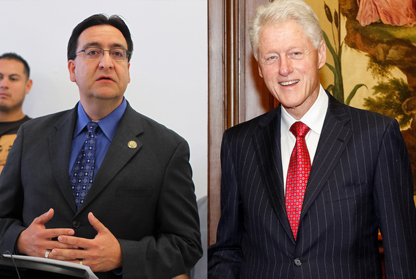 Pete Gallego and Bill Clinton