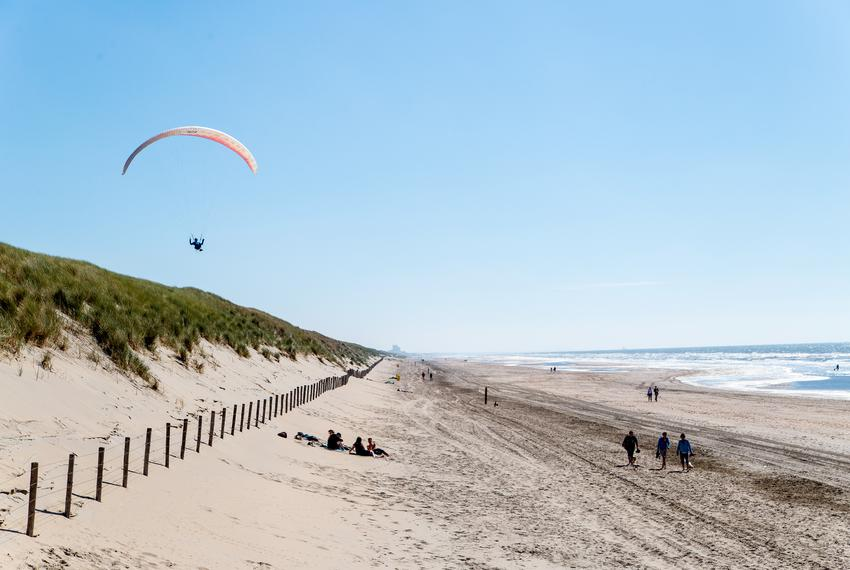 The dunes near the Langevelderslag beach in Noordwijk are 65-feet high, more than a mile wide and can protect against a 10,0…