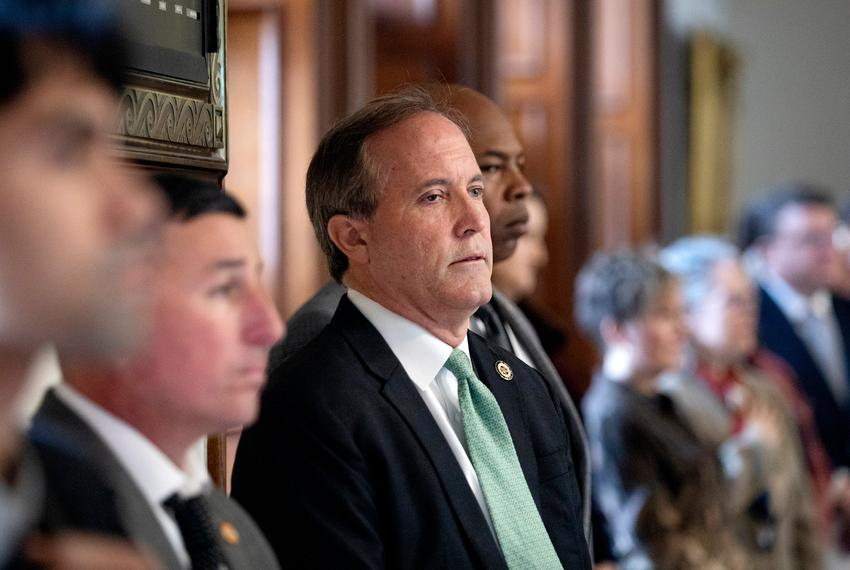 Ken Paxton at the inauguration ceremony of Judge Michelle Slaughter at the state capitol. Jan. 11, 2019.