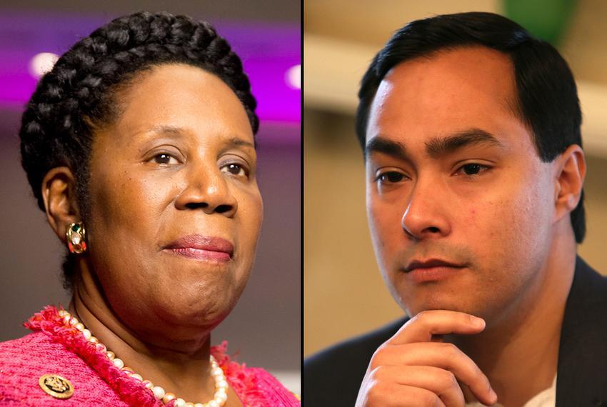 U.S. Reps. Sheila Jackson Lee and Joaquin Castro.