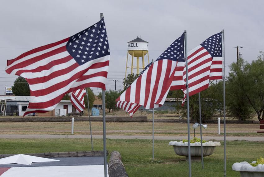 The city park in downtown Haskell, Texas, on Sept. 22, 2011.