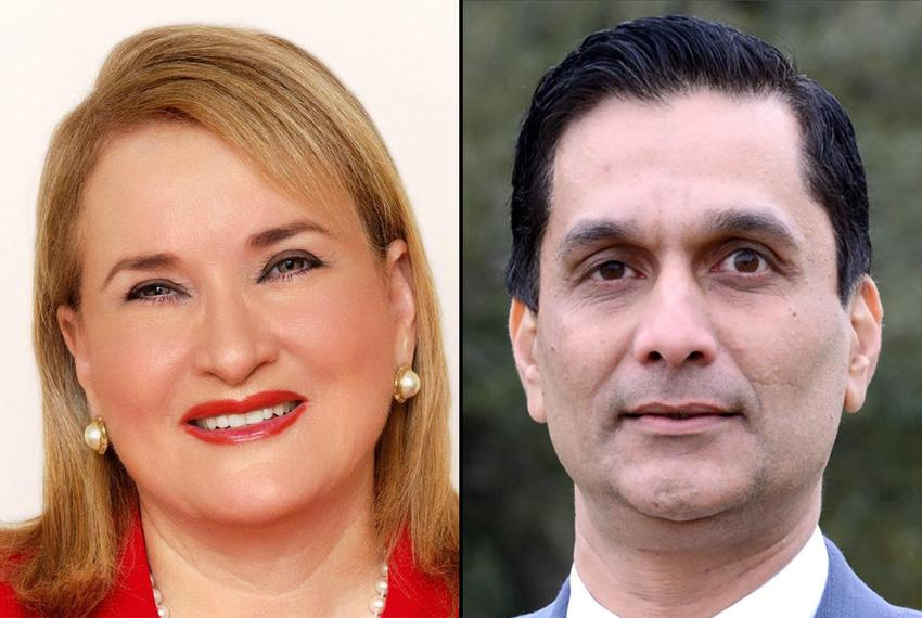 State Sen. Sylvia Garcia, D-Houston, and businessman Tahir Javed. Garcia and Javed are two of seven Democratic candidates ...