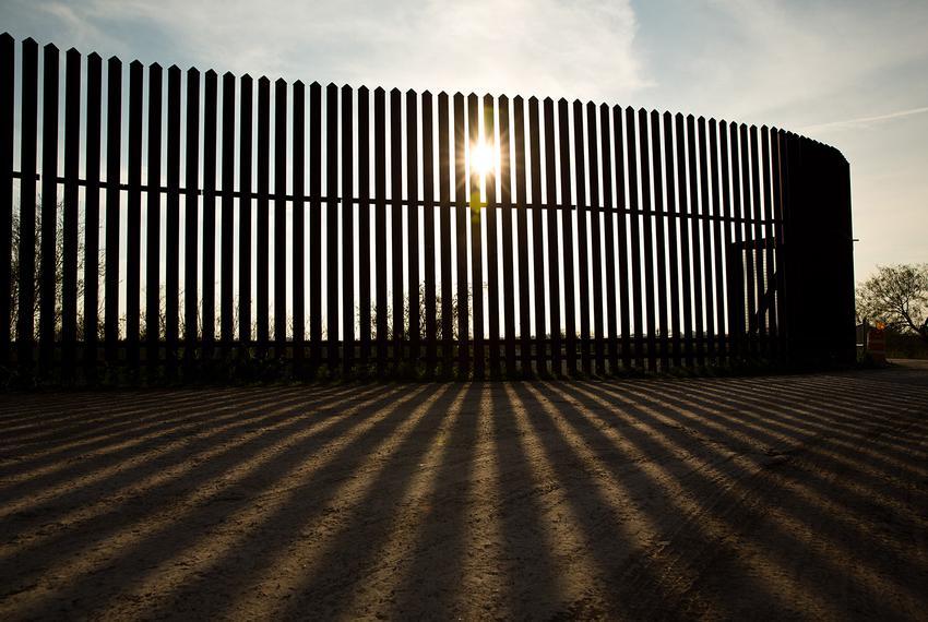 A segment of the border fence in the Rio Grande Valley.