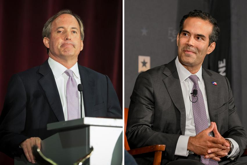 From left, Attorney General Ken Paxton and Texas Land Commissioner George P. Bush.