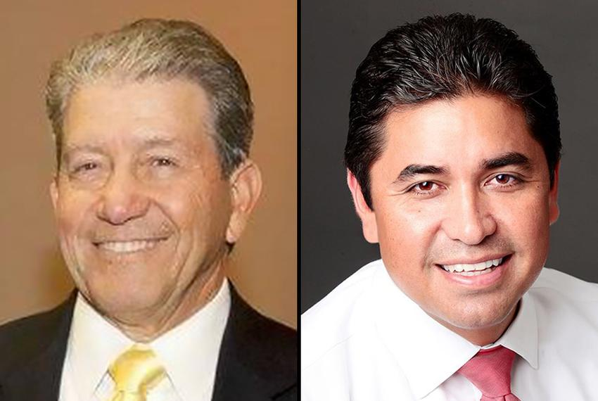 Longtime Hidalgo County District Attorney René Guerra, left, was unseated in the March 4 Democratic primary by former state District Judge Ricardo Rodriguez, right. No Republican is running.