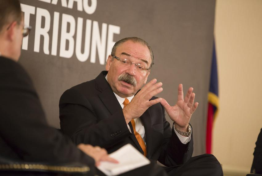 Gilberto Hinojosa chairman of the Texas Democratic Party, at a September 10th, 2014 Tribune event.