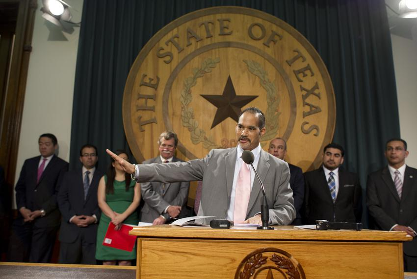 Chairman of the Legislative Study Group Rep. Garnet Coleman, D-Houston, explains the Texas on the Brink report released Apri…