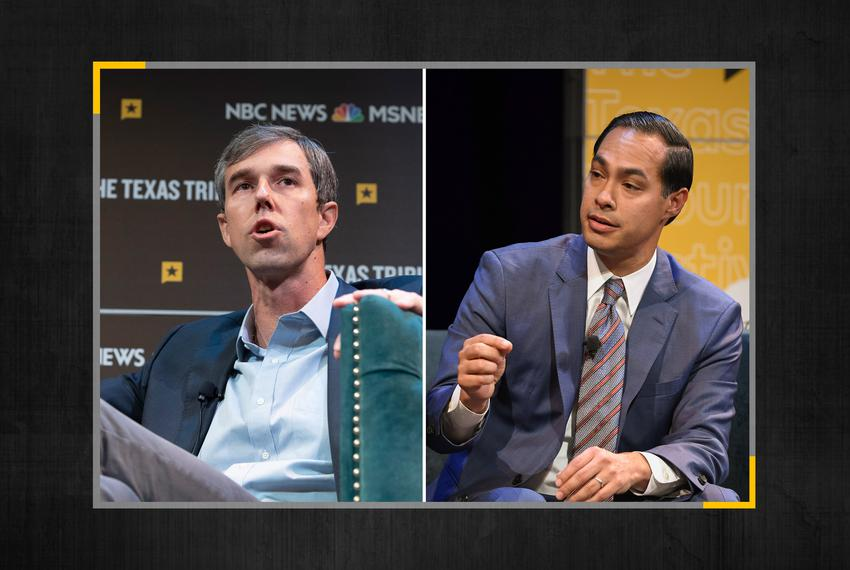 Presidential candidates Beto O'Rourke and Julián Castro.