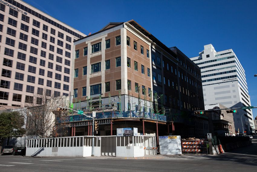 The Texas Public Policy Foundation's new building is under construction on Congress Avenue in Austin.