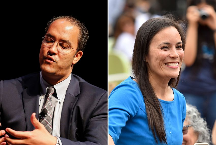 U.S. Rep. Will Hurd, R-Helotes, and his challenger, Democratic nominee Gina Ortiz Jones.