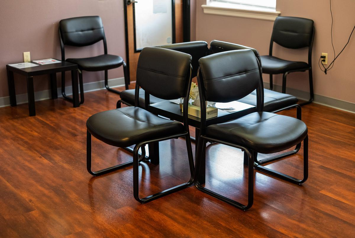 The waiting room at Whole Women's Health of Austin sits empty on Wednesday, September 1, 2021. Senate Bill 8, a law banning nearly all abortions after six weeks, went into affect today.