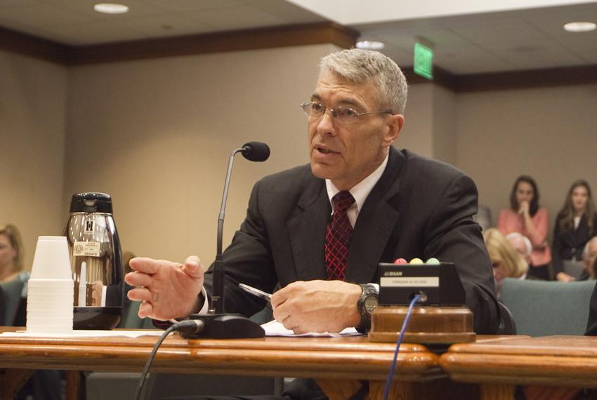 Texas Department of Public Safety Director Steve McCraw, testifies during Senate Education Committee on March 19th, 2013