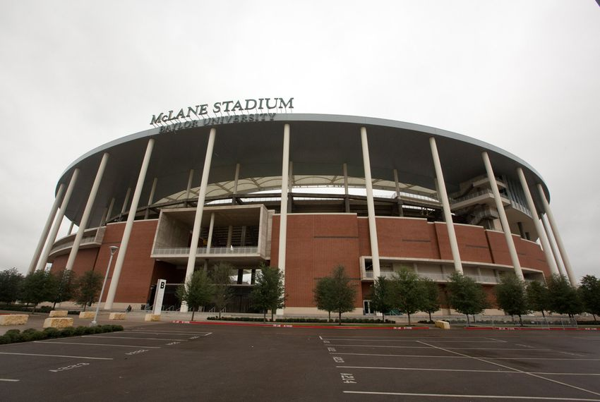 The exterior of McLane Stadium at Baylor University