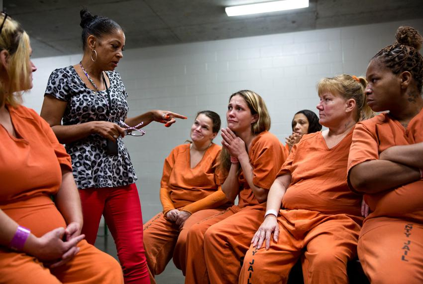 "Kathryn Griffin leads the ""We've Been There Done That"" prostitute rehabilitation program for selected inmates at Harris Coun…"