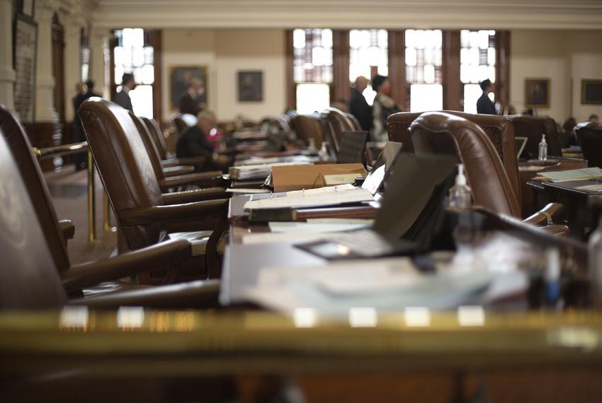 State legislators on the House Floor on May 7th, 2021.