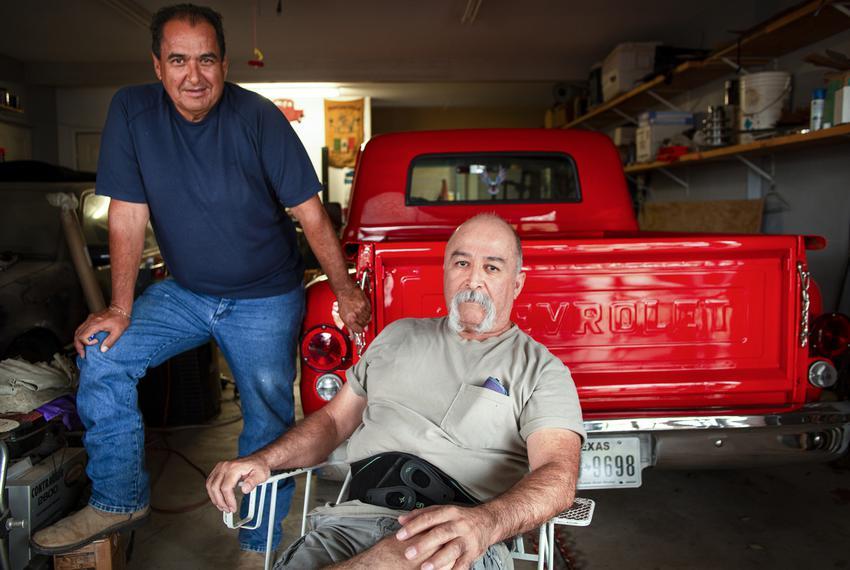 Roberto and Alonso Barrera in Zapata on Nov. 10, 2020.