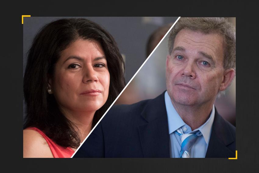 State Sen. -elect Carol Alvarado, D-Houston, and outgoing state Rep. Joe Pickett, D-El Paso.