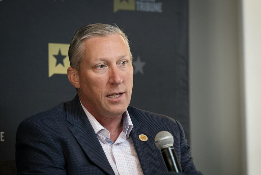 State Rep. Drew Springer, R-Muenster, spoke during a Texas Tribune panel in 2019.