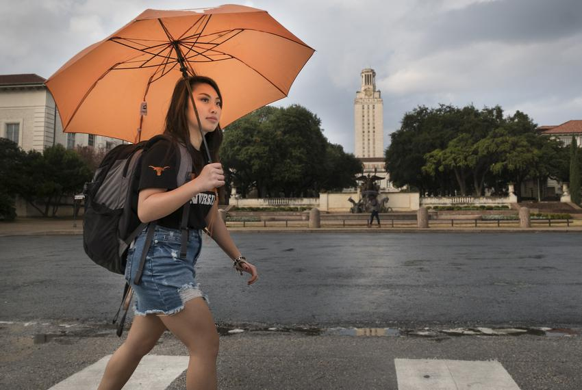 Tiffany Pham, a freshman nursing student at The University of Texas, was one of about 30 students who received an Impact Sch…