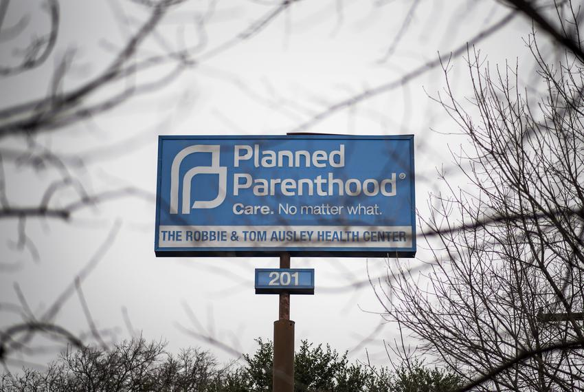 A Planned Parenthood sign at the south Austin location on Jan. 14, 2020.