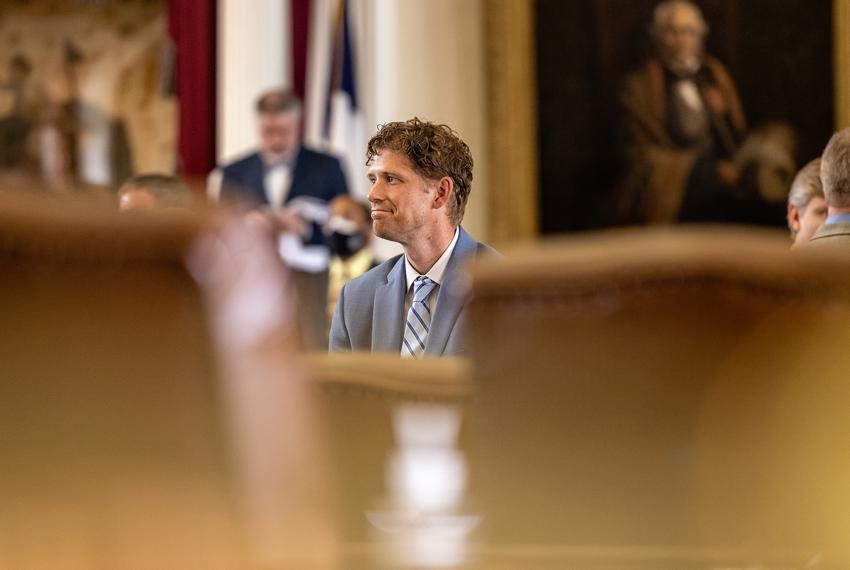 State Rep. Matt Krause, R-Fort Worth, on the House floor on Aug. 9, 2021.