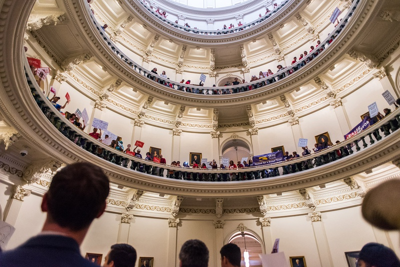 SB 4 protest at the Texas Capitol on Monday, May 29th, 2017.